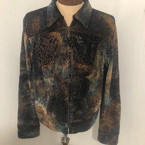 Womens soft blue/brown blazer/jacket. Size large